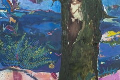 Bez tytułu, 140x100 ecolina, tempera wodna, tempera jajowa na płótnie, 2016